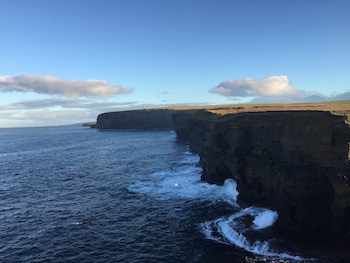 Northside cliffs on St Magnus Way