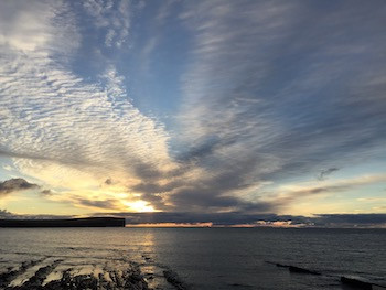 January sky over Marwick head