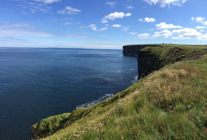St Magnus Way clear blue sea
