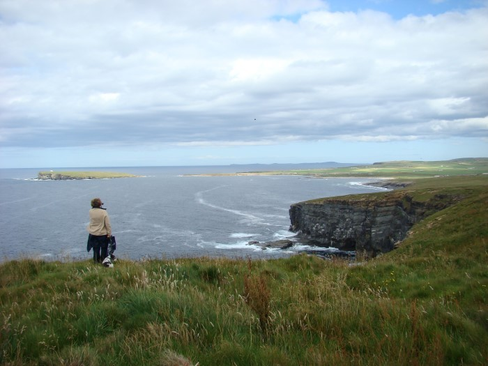 Overlooking the Brough from Marwick head