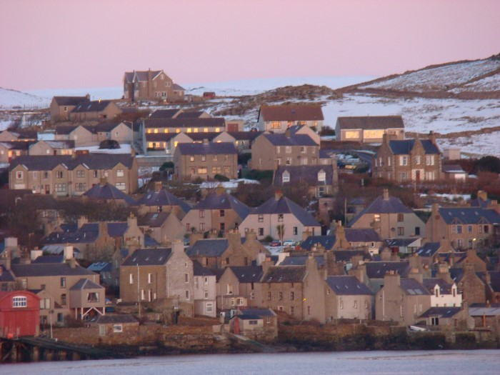 Stromness at sunrise