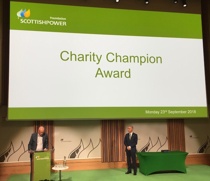 Charity Champion announcement