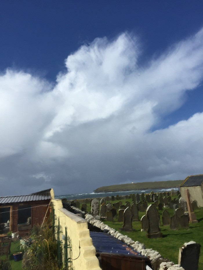 storm cloud over the Brough